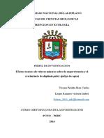 perfil de investigacion ecotoxicologia