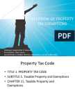 Overview of Propertytax Exemptions