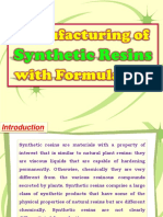 Manufacturing of Synthetic Resins with Formulation