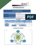 Programa Analitico VALUACION INMOBILIARIA