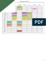 Classs Schedule