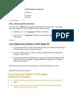 Flash Asus Zenfone 4 t00i