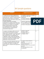 New Ccba Sample Questions