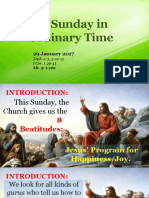 Jan 29 - 4th Sunday in Ordinary Time Homily
