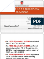Powers of Nclt & Transitional Provisions - Nclt
