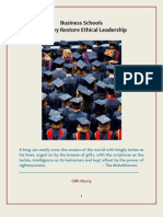 Business Schools - Can They Restore Ethical Leadership