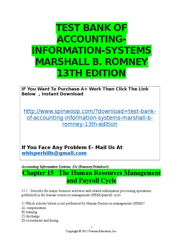 Us bank hr view paycheck - Chapter 15 The Human Resources Management And Payroll Cycle Doc Paycheck Payroll