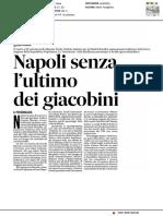 Napoli senza l'ultimo dei giacobini - Il Messaggero del 27 gennaio 2017