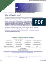 What's Nanofiltration