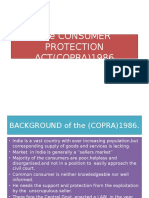 The Consumer Protection Act(Copra)1986