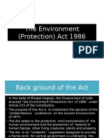 The Environment (Protection) Act 1986