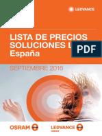201609 Ledvance Osram Lista de Precios Soluciones Led España Septiembre 2016