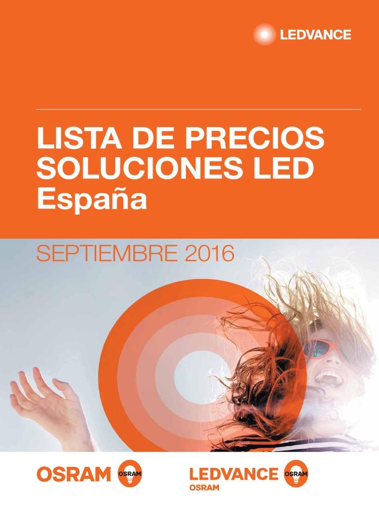 Ledvance Led Lista Soluciones 201609 de Precios España Osram nOkX08wP