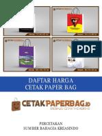 Daftar Harga Cetak Paper Bag di Jakarta Pusat