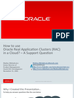 How to Use RAC in Cloud a Support Question Michalewicz (1)