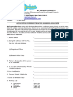 Vendor Empanelment Form