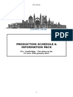 Production Schedule and Info Cambridge the Place to Be