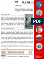 Application Sheet Karl-Fischer Titration - Iolitec