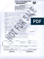 Dependent ID Form AFP