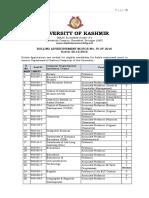 Notification Kashmir University Professor Associate Professor Posts