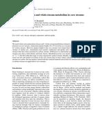 Ammonium Retention and Whole Stream Metabolism in Cave Streams Simon2002