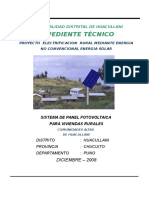 Proyecto Municipalidad Huacullani Panel Solar Memoria Descriptiva y Espec. Tecnicas