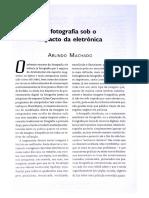 Arlindo Machado - A Fotografia Sob o Impacto Da Eletronica