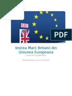 Iesirea Marii Britanii Din Uniunea Europeana