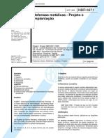 NBR 06971 - 1999 - Defensas Metálicas - Projeto e Implantação