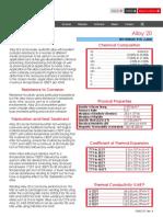 Alloy 20 Data Sheet