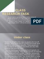 Social Class Research Task