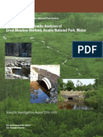 Hydrologic and hydraulic analyses of Great Meadow wetland, Acadia National Park, Maine
