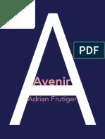 Avenir Specimen Book with additional glyphs