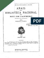 Anais Da Biblioteca Nacional Do Rio de Janeiro n. 62 (1940)