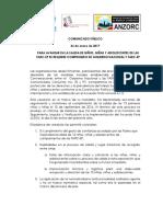 Comunicado Niños y Niñas Farc- Veeduria 26012017.PDF