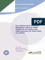 Los Efectos de La Violencia Doméstica Sobre La Salud Infantil de Los Niños y Las Niñas Menores de Cinco Años en El Perú