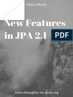 Cheat Sheet - New Features in JPA 2.1