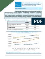 Informe SIPA Ministerio de Trabajo Noviembre 2016