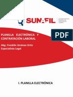 """Presentación del Seminario """"Planilla Electrónica y Contratación Laboral"""""""