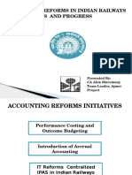 Accounting Reforms in Railways
