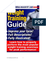 Bm101 Weight Training Guide