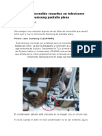 Fallas de Encendido Resueltas en Televisores Samsung Pantalla Plana