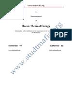 Mech Ocean Thermal Energy Report