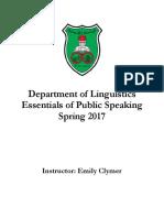 essentials of public speaking course book
