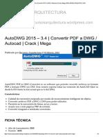 Convertir PDF a DWG