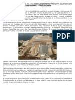 Conferencia de La Secretaria Del Agua Sobre Los Diferentes Proyectos Multipropósito Que Se Desarrollan en El Ecuador