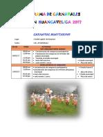 Program a de Carnavales Region Huancavelica