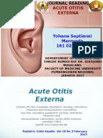 jurnal reading acute otitis external