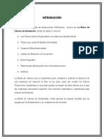 Informe Sobre La Bolsa de Valores de Guatemala