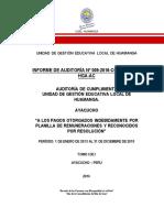 Auditoria de Cumplimiento 2016 Pagos Indebidos (1) 20-12-2016